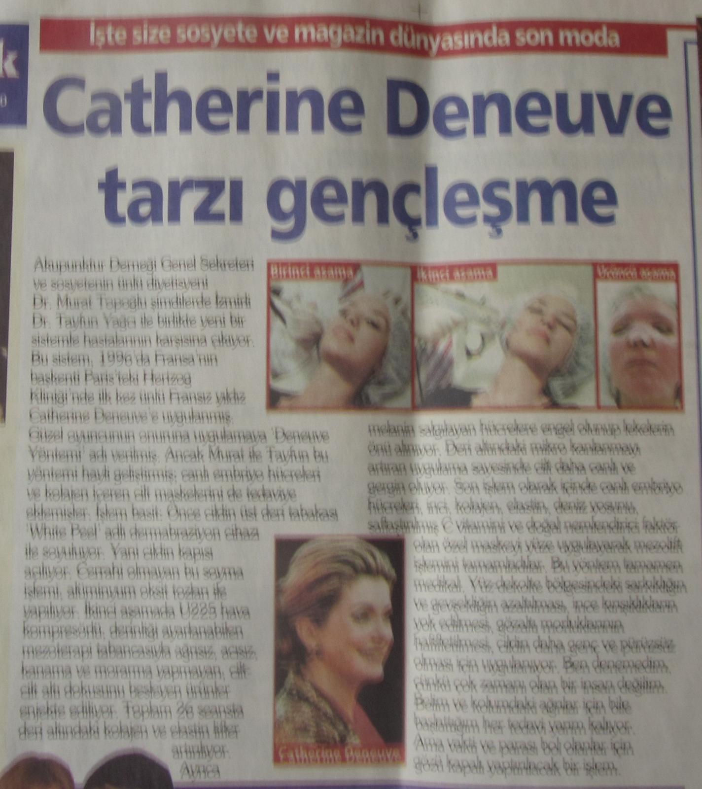 Catherine Deneuve Tarzı Gençleşme