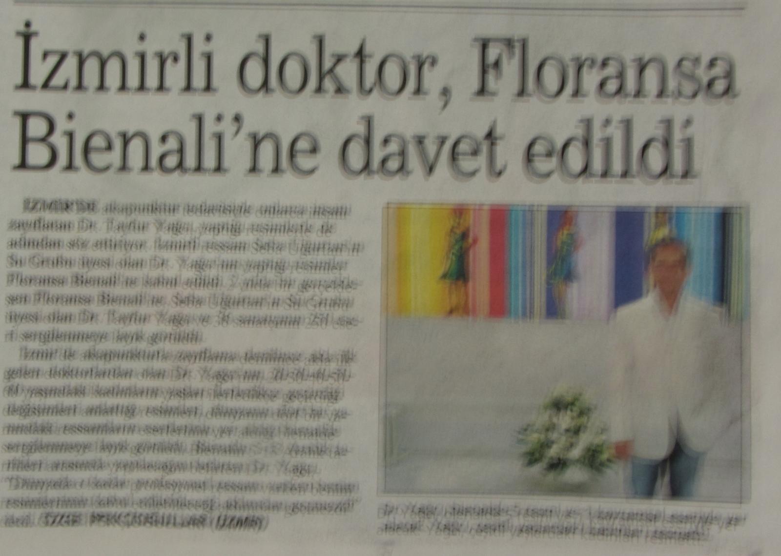 İzmir'li Doktor Floransa Bienal'ine Davet Edildi
