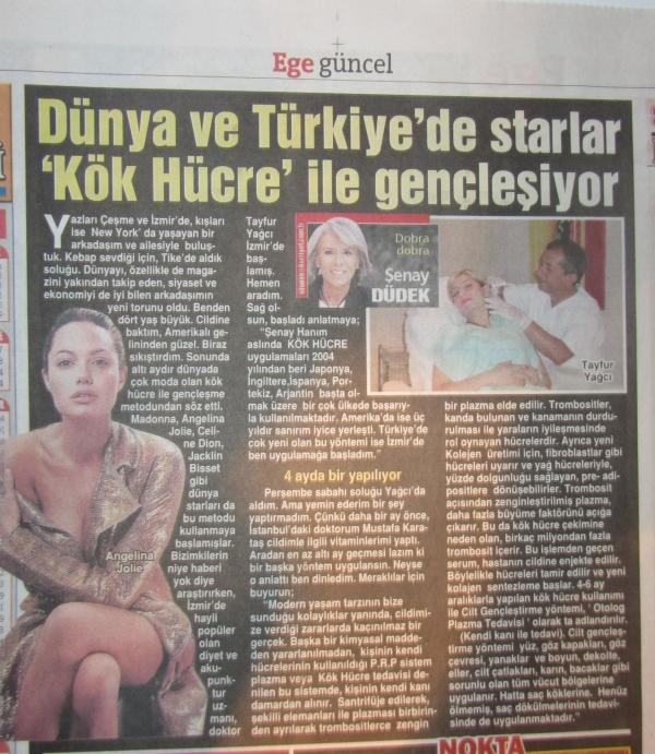 Dünya ve Türkiye'de Starlar ''Kök Hücre'' ile Gençleşiyor